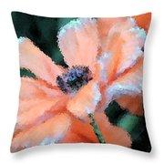 Poppy Primadonna Throw Pillow
