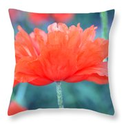 Poppy Profile Throw Pillow