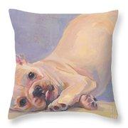 Poppy Puppy Throw Pillow