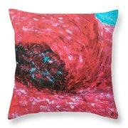 Poppy Swirl Throw Pillow