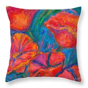 Poppy Twirl Throw Pillow