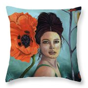 Poppy Updated Photo Throw Pillow