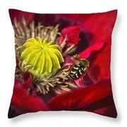 Poppy Visited Part II Throw Pillow