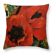 Poppygold Throw Pillow