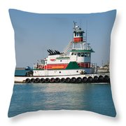 Popular Sight At Port Canaveral On Florida Throw Pillow