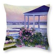 Porch At Sunet Throw Pillow