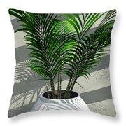 Porch Plant Throw Pillow