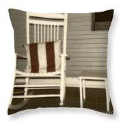 Porch Rocker Throw Pillow