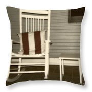 Porch Rocker Throw Pillow