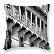 Porches Of Flagler College Throw Pillow