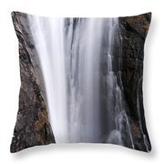 Porcupine Falls Closeup Throw Pillow
