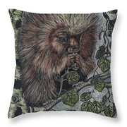 Porcupine In Aspen Throw Pillow