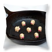 Pork For Dinner Throw Pillow