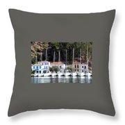 Poros Greece Throw Pillow