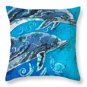 Porpoise Pair - Close Up Throw Pillow