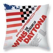 Porsche 24 Hours Of Daytona Wins Throw Pillow
