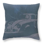 Porsche 356 Coupe Front Throw Pillow by Naxart Studio