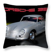 Porsche 356 Throw Pillow