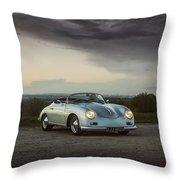 Porsche 356 Speedster Throw Pillow