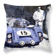 Porsche 906 Daytona 1966 Herrmann-linge Throw Pillow by Yuriy  Shevchuk