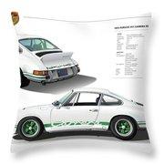 Porsche 911 Carrera Rs Illustration Throw Pillow