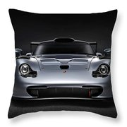 Porsche 911 Evolution Throw Pillow