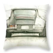 Porsche 911 Rs Throw Pillow