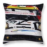 Porsche 911 Rsr Le Mans Throw Pillow