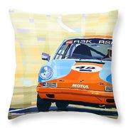 Porsche 911 S  Classic Le Mans 24  Throw Pillow by Yuriy  Shevchuk