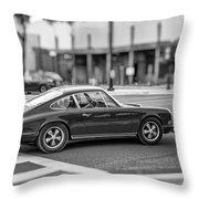 Porsche 911e Throw Pillow