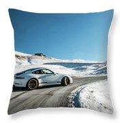 Porsche 911r Powerslide Throw Pillow