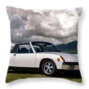 Porsche 914 Throw Pillow