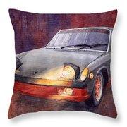 1970 Porsche 914 Throw Pillow