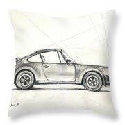Porsche 930 Turbo Throw Pillow by Juan Bosco