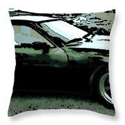 Porsche 944 On A Hot Afternoon Throw Pillow