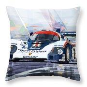 Porsche 956 Rothmans 1982 1000km Francorchamps Derek Bell Throw Pillow