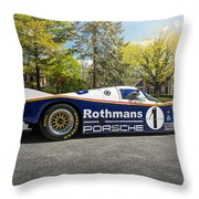 Porsche 962c Throw Pillow