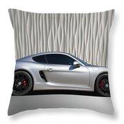 Porsche Beautiful Dream Sports Car Throw Pillow