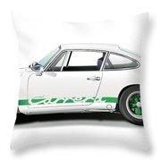 Porsche Carrera Rs Illustration Throw Pillow
