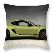 Porsche Cayman R Throw Pillow