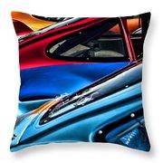 Porsche Fins Throw Pillow