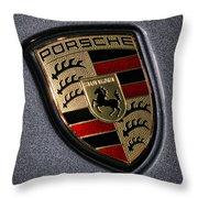 Porsche Throw Pillow by Gordon Dean II