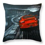 Porsche Gt3 Le Mans Throw Pillow