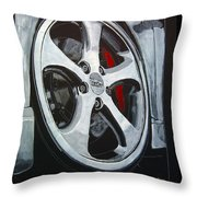 Porsche Techart Wheel Throw Pillow