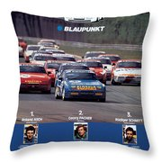 Porsche Turbo Cup 1988 Throw Pillow