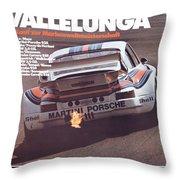 Porsche Vallelunga Vintage Racing Poster Throw Pillow