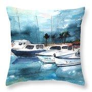 Port Alcudia Harbour 01 Throw Pillow