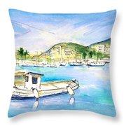 Port Andratx 01 Throw Pillow