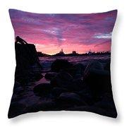Port Angeles Harbor Eleven Throw Pillow