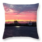 Port Angeles Harbor Thirteen Throw Pillow